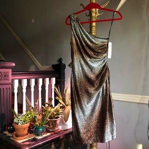 Maggot London Metallic One-Shoulder Dress